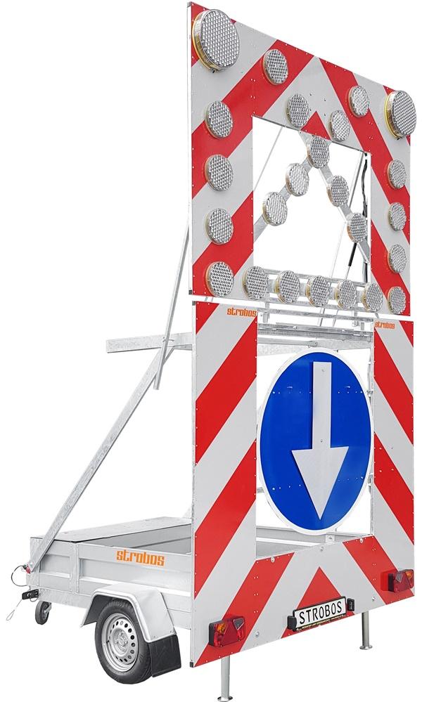 Zabezpečovací signalizační přívěs